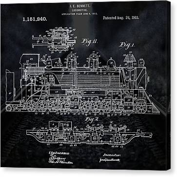 Locomotive Patent Canvas Print by Dan Sproul