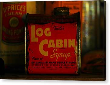 Log Cabin Syrup Canvas Print by Jeff Swan