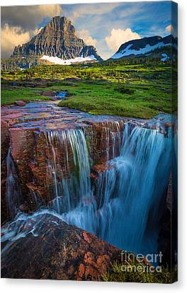 Logan Pass Sunset Canvas Print by Inge Johnsson