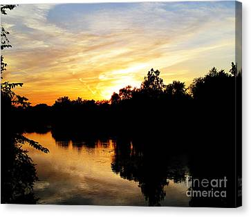 Logan Street Sunset Two Canvas Print by Tina M Wenger