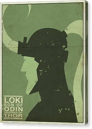 Loki - Son Of Odin Canvas Print by Michael Myers