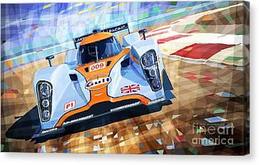 Lola Aston Martin Lmp1 Racing Le Mans Series 2009 Canvas Print by Yuriy  Shevchuk