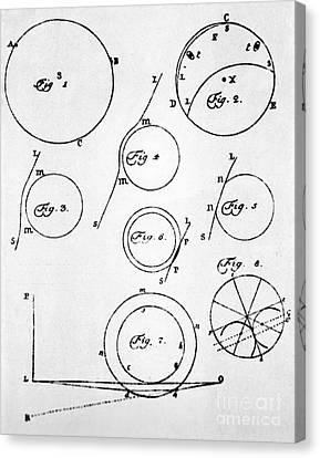Lomonosov's Diagrams Of Venus Transit Canvas Print by Ria Novosti