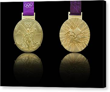 London 2012 Olympics Gold Medal Design Canvas Print by Matthew Gibson