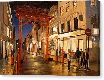 London Chinatown Canvas Print by Paul Krapf