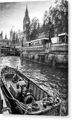 London Dock Canvas Print by Glenn DiPaola