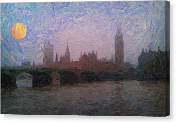 London Fog  Canvas Print by Celestial Images
