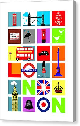 London Canvas Print by Mark Rogan