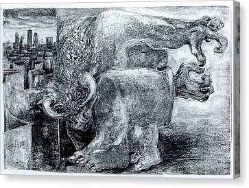 London Minotaur No.2 Canvas Print by John Sharp