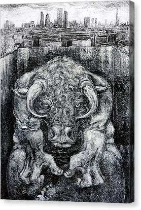 London Minotaur1 Canvas Print by John Sharp