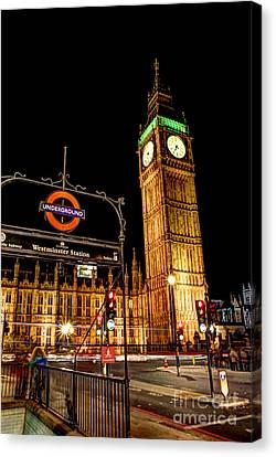 London Scene 2 Canvas Print by Jasna Buncic
