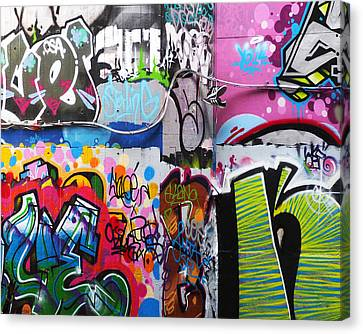 London Skate Park Abstract Canvas Print by Rona Black
