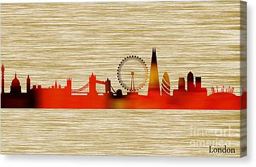 London Skyline Canvas Print by Marvin Blaine