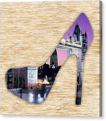 London Tower Bridge Canvas Print by Marvin Blaine