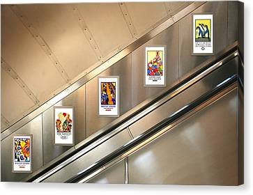 London Underground Poster Collection Canvas Print by Mark Rogan