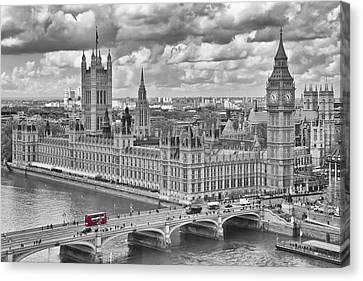 London Westminster Canvas Print by Melanie Viola