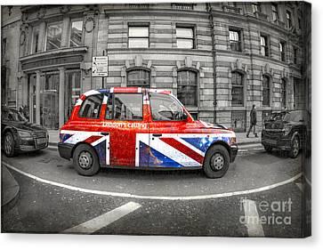 London's Calling Canvas Print by Evelina Kremsdorf