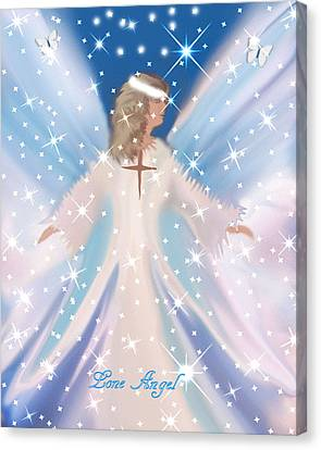 Lone Angel Canvas Print by Sherri  Of Palm Springs