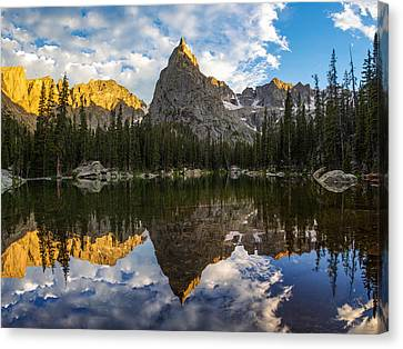 Lone Eagle Peak And Mirror Lake Canvas Print by Aaron Spong