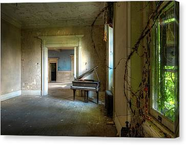 Lone Piano Canvas Print by Sheri Knauer