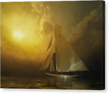Lone Sailor Canvas Print by Lonnie Christopher