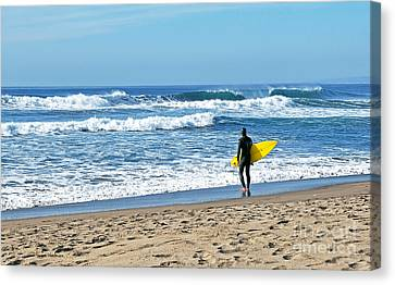 Lone Surfer Canvas Print by Susan Wiedmann