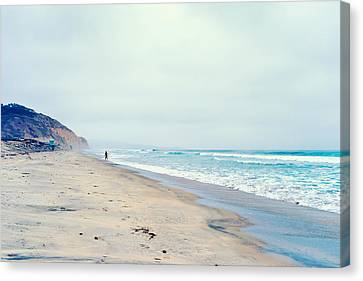 Lone Surfer Canvas Print by Tanya Harrison