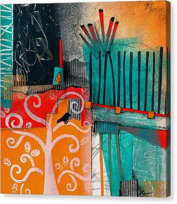 Lonecrow Spirit  Canvas Print by Laura  Lein-Svencner