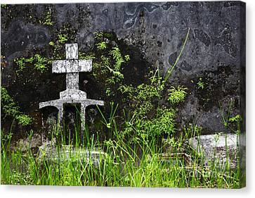 Lonely Grave Canvas Print by James Brunker