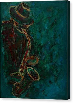 Lonely Jazz Canvas Print by Xueling Zou