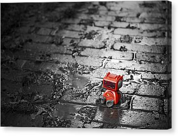 Lonely Little Robot Canvas Print by Scott Norris
