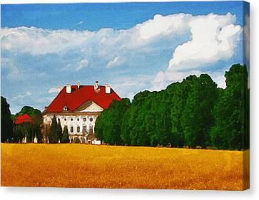Lonely Mansion Canvas Print by Ayse Deniz