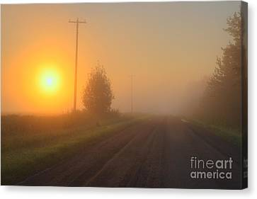 Lonely Road Canvas Print by Dan Jurak