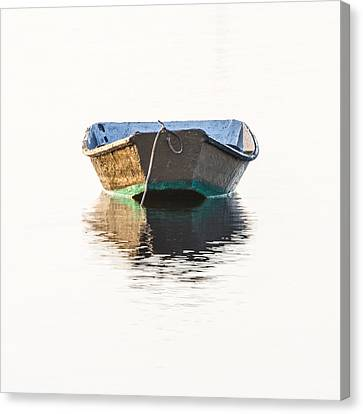 Lonely Row Boat Square Version Canvas Print by Bill Swindaman
