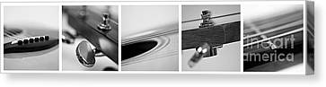 Long As The Guitar Canvas Print by Priska Wettstein