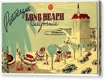Long Beach 1946 Canvas Print by Georgia Fowler