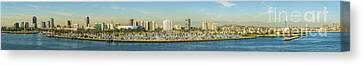 Long Beach California Canvas Print by Clear Sky Images