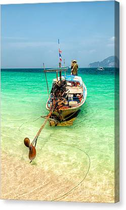 Long Boat  Canvas Print by Adrian Evans