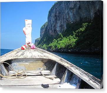 Long Boat Tour - Phi Phi Island - 0113157 Canvas Print by DC Photographer