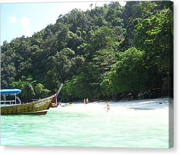 Long Boat Tour - Phi Phi Island - 0113170 Canvas Print by DC Photographer