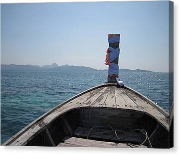 Long Boat Tour - Phi Phi Island - 0113237 Canvas Print by DC Photographer