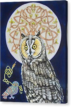 Long Eared Owl Canvas Print by Beth Clark-McDonal