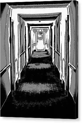 Long Hallway Canvas Print by Dan Sproul