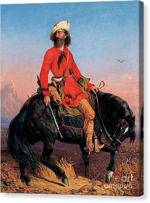 Long Jake - Rocky Mountain Man Canvas Print by Pg Reproductions
