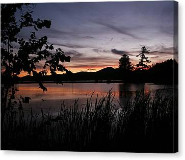 Long Lake Sunset Canvas Print by Heather Allen