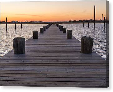 Long Pier Canvas Print by Kristopher Schoenleber