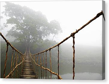 Long Rope Bridge Canvas Print by Skip Nall