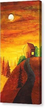 Long Way To Home Canvas Print by Nirdesha Munasinghe