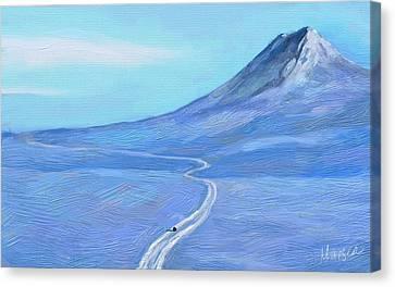 Long Winter Canvas Print by Marina Likholat