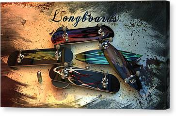 Longboards Canvas Print by Louis Ferreira